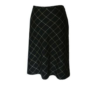 Loft 100% wool A line plaid skirt 12